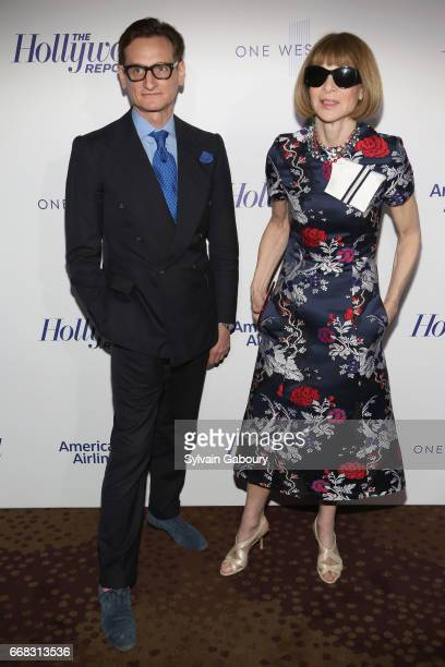 Hamish Bowles and Anna Wintour attends The Hollywood Reporter's 35 Most Powerful People In Media 2017 on April 13 2017 in New York City