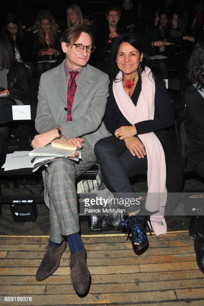 Hamish Bowles and Candy Pratts Price attend ALEXANDER WANG Fall 2009 Collection at Roseland Ballroom on February 14 2009 in New York City