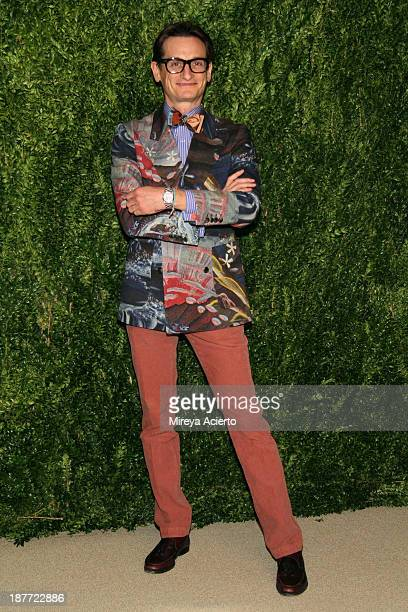 Hamish Bowles attends CFDA and Vogue 2013 Fashion Fund Finalists Celebration at Spring Studios on November 11 2013 in New York City