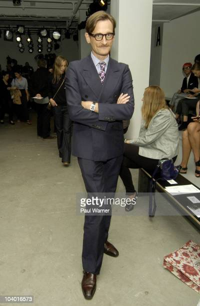 Hamish Bowles attends the Altuzarra Spring 2011 fashion show during MercedesBenz Fashion Week at Milk Studios on September 11 2010 in New York City