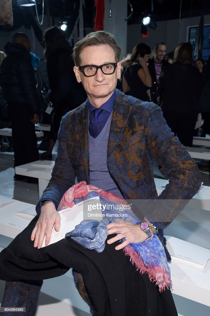 Hamish Bowles attends the Calvin Klein Collection Front Row during New York Fashion Week on February 10, 2017 in New York City.