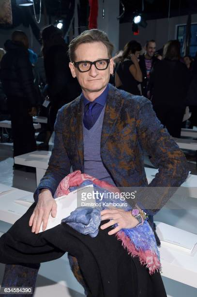 Hamish Bowles attends the Calvin Klein Collection Front Row during New York Fashion Week on February 10 2017 in New York City