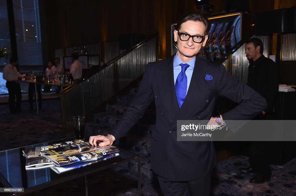 Hamish Bowles attends The Hollywood Reporter 35 Most Powerful People In Media 2017 at The Pool on April 13, 2017 in New York City.
