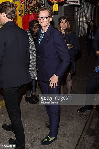 Hamish Bowles attends the Voguecom Dim Sum Pajama Party at Nom Wah Tea Parlor on May 2 2015 in New York City