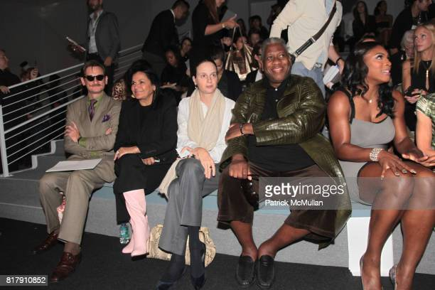 Hamish Bowles Candy Pratts Price Alexandra Kotur Andre Leon Talley and Serena Williams attend VERA WANG Spring/Summer 2011 Presentation at The Studio...