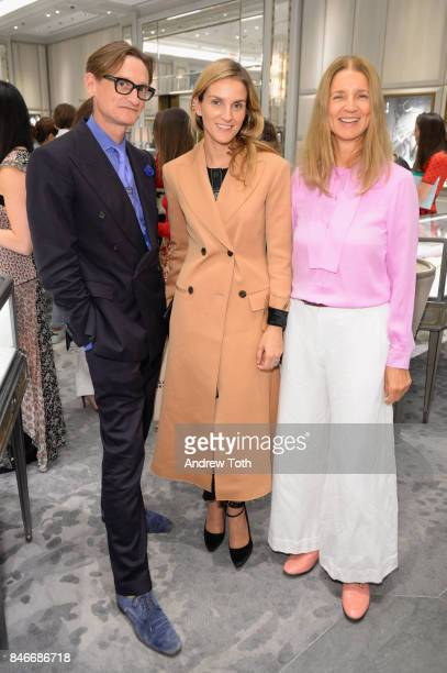 Hamish Bowles Gaia Repossi and Karla Otto attend as Repossi celebrates its debut at Bergdorf Goodman on September 13 2017 in New York City