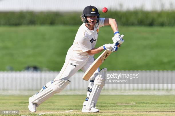 Hamish Marshall of Wellington batting during the Plunket Shield match between Canterbury and Wellington on March 30 2017 in Christchurch New Zealand
