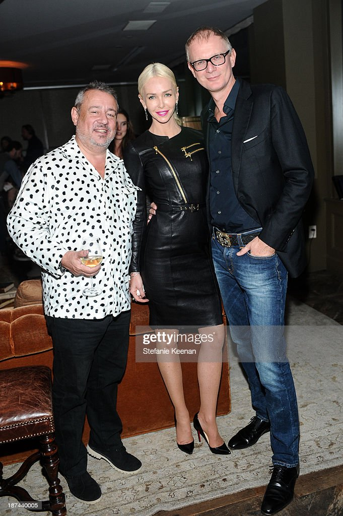 Hamish McAlpine, Amanda Cronin Daeche and Mark Daeche attend The 'Last Supper' Discussion hosted By Stephen Webster At Soho House at Soho House on November 8, 2013 in West Hollywood, California.