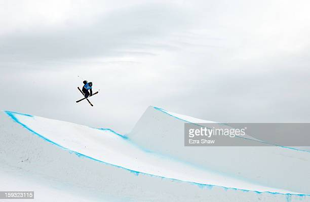 Hamish McDougall of New Zealand competes during qualification for the men's ski slope style FIS Freestyle Ski World Cup at the US Grand Prix on...