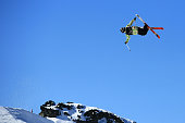 Hamish McDougall of New Zealand competes in the FIS Freestyle Ski World Cup Slopestyle Qualification during the Winter Games NZ at Cardrona Alpine...
