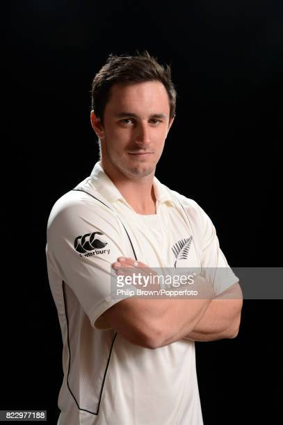 Hamish Rutherford of New Zealand poses for the camera during the New Zealand Cricket Headshots photo session before the Test series against England...