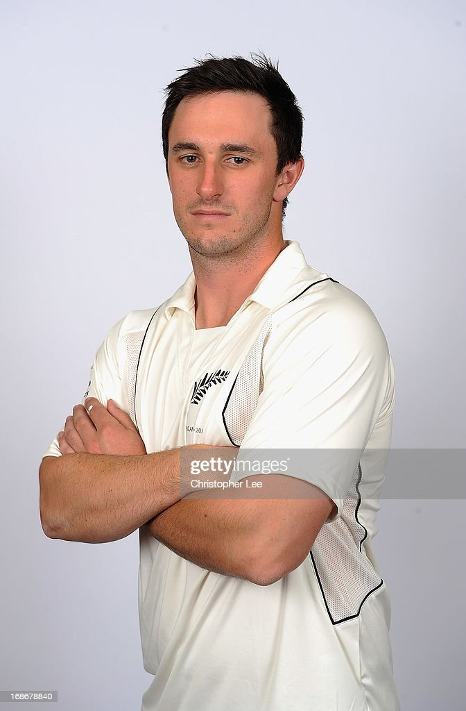 <a gi-track='captionPersonalityLinkClicked' href=/galleries/search?phrase=Hamish+Rutherford&family=editorial&specificpeople=4880824 ng-click='$event.stopPropagation()'>Hamish Rutherford</a> poses for the camera during the New Zealand Cricket Headshots at Lords on May 13, 2013 in London, England.