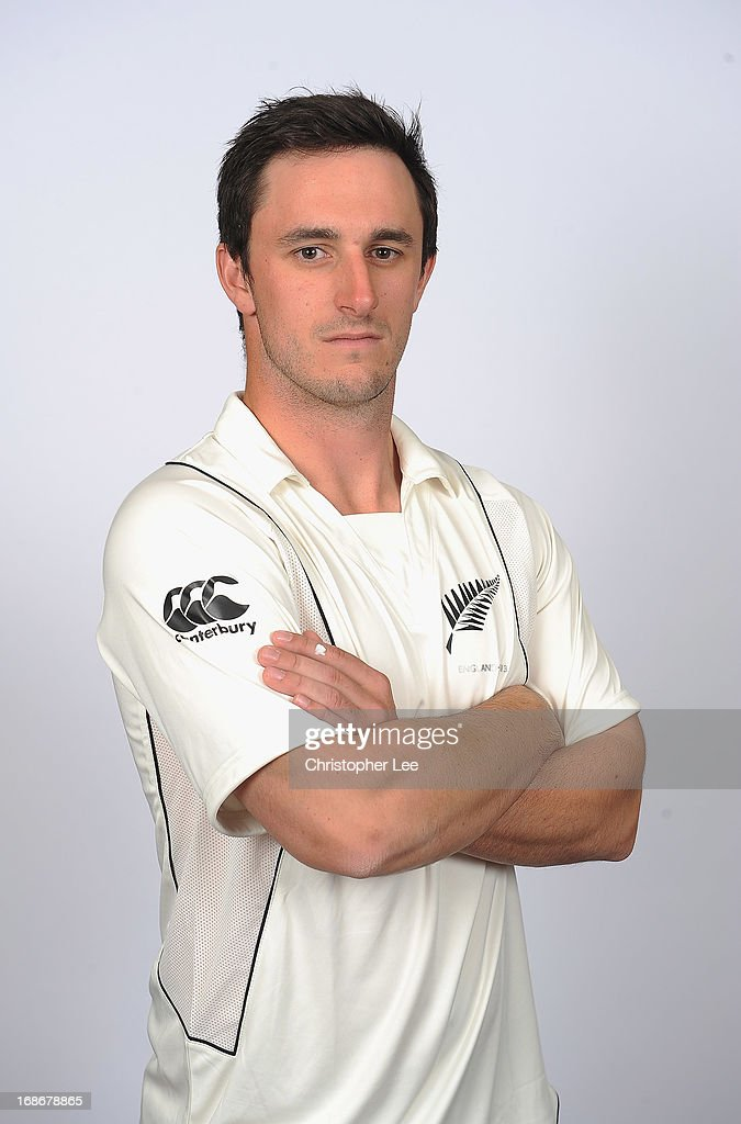 Hamish Rutherford poses for the camera during the New Zealand Cricket Headshots at Lords on May 13 2013 in London England