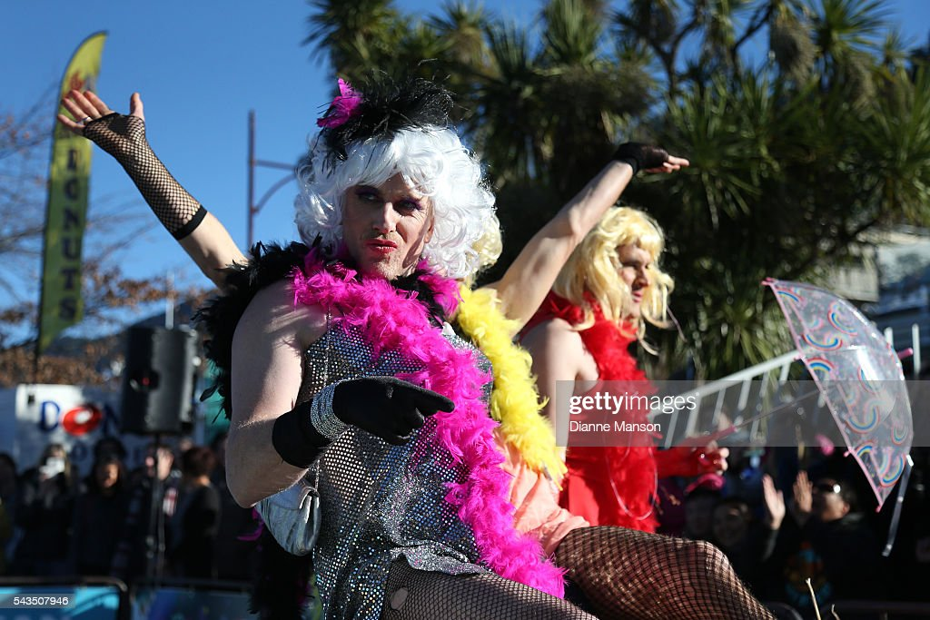 Hamish Samll looks on during the Downtown Day Drag race at the Queenstown Winter Festival on June 29, 2016 in Queenstown, New Zealand.