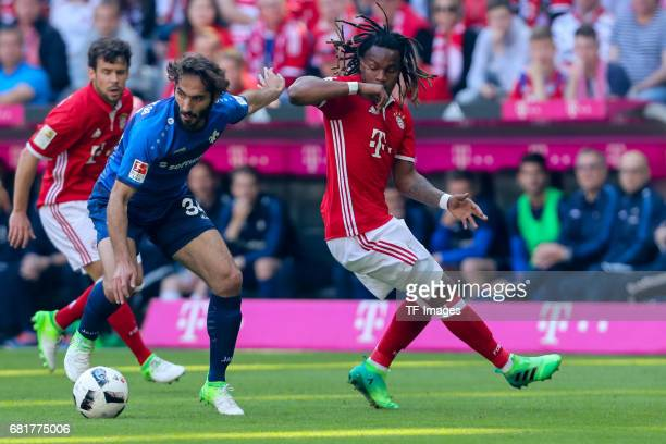 Hamit Altintop of Darmstadt and Reanato Sanches of Munich battle for the ball during the Bundesliga match between Bayern Muenchen and SV Darmstadt 98...
