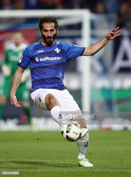 Hamit Altintop of Darmstadt controles the ball during the Bundesliga match between SV Darmstadt 98 and Bayer 04 Leverkusen at Jonathan Heimes Stadion...