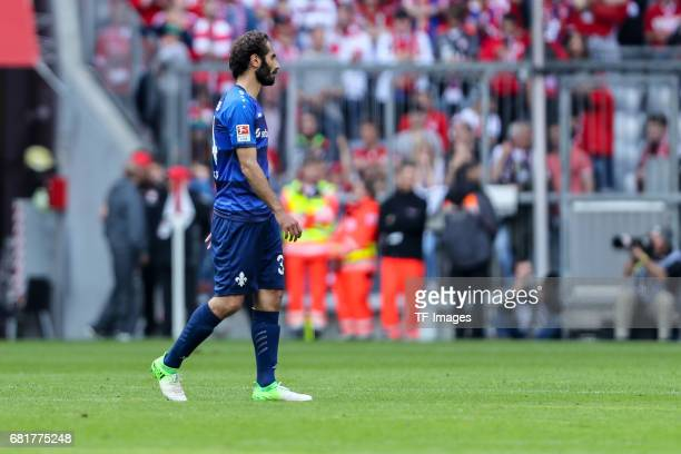 Hamit Altintop of Darmstadt looks dejected during the Bundesliga match between Bayern Muenchen and SV Darmstadt 98 at Allianz Arena on May 6 2017 in...