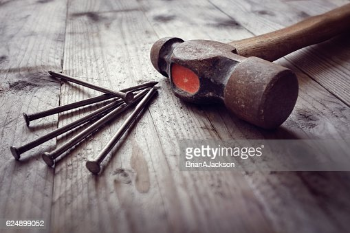 Hammer and nails : Stock Photo
