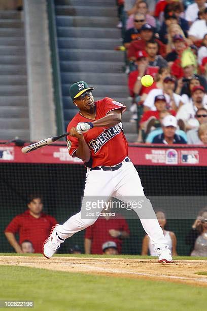 Hammer attends the Taco Bell AllStar Legends Celebrity Softball Game at Angel Stadium of Anaheim on July 11 2010 in Anaheim California