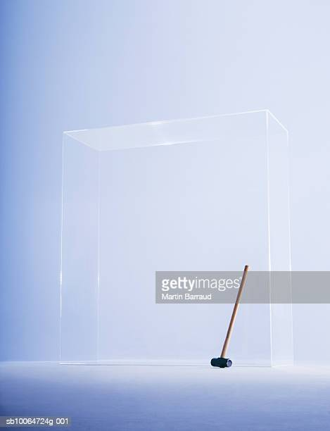 Hammer in glass cabinet