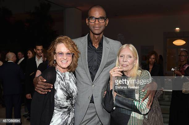 Hammer Museum Director Ann Philbin honorees Mark Bradford and Joni Mitchell attend the Hammer Museum's 12th annual Gala in the Garden with generous...