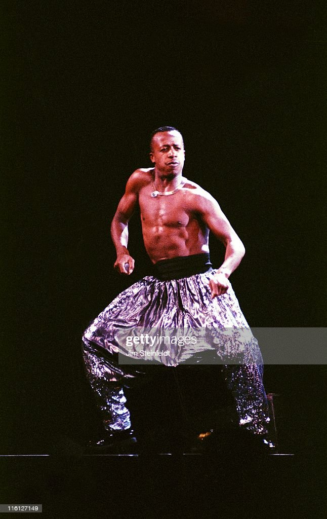 MC Hammer performs at the Met Center in Bloomington, Minnesota on September 23, 1990.