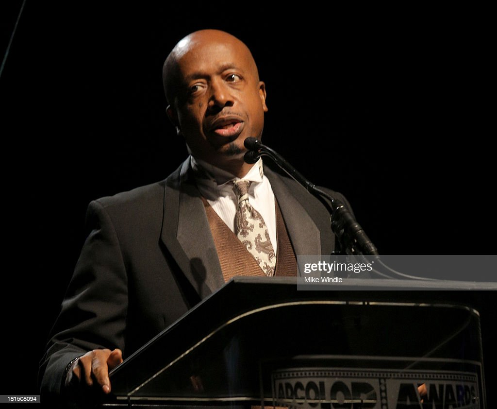 <a gi-track='captionPersonalityLinkClicked' href=/galleries/search?phrase=MC+Hammer&family=editorial&specificpeople=225081 ng-click='$event.stopPropagation()'>MC Hammer</a> speaks on stage at the ADCOLOR Awards at The Beverly Hilton Hotel on September 21, 2013 in Beverly Hills, California.