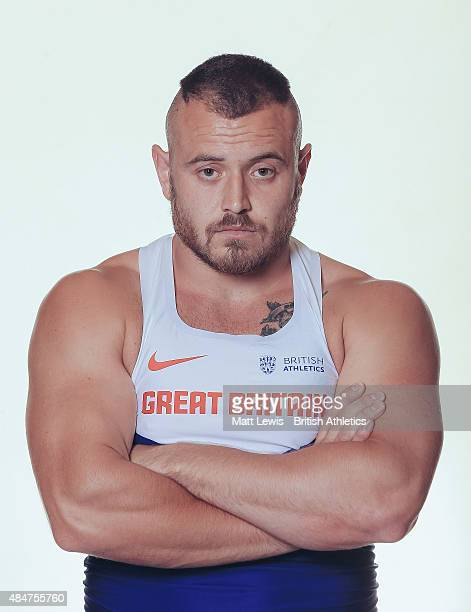 Hammer Thrower Mark Dry of Great Britain poses for a portrait during a Training Session on August 17 2015 in Fukuoka Japan