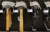 Hammers are offered for sale at Lowe's home improvement store on January 24 2013 in Chicago Illinois Lowe's said they plan to hire 45000 parttime...