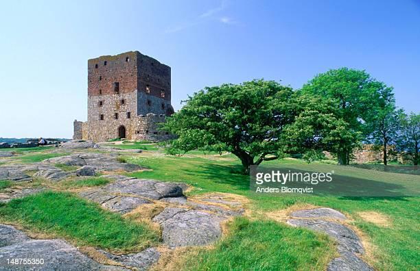 Hammershus Slot in Ronne. Built in 1250, Hammershus is Scandinavia's largest Medieval castle ruin