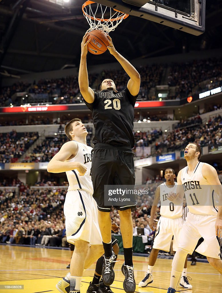 A.J. Hammons #20 of the Purdue Boilermakers shoots the ball during the game against the Notre Dame Fighting Irish during Boston Scientific Close The Gap Crossroads Classic at Bankers Life Fieldhouse on December 15, 2012 in Indianapolis, Indiana.