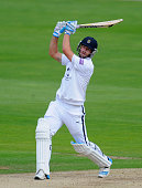 Hampshire batsman Sean Ervine scores some quick runs during day three of the LV County Championship Division Two match between Glamorgan and...