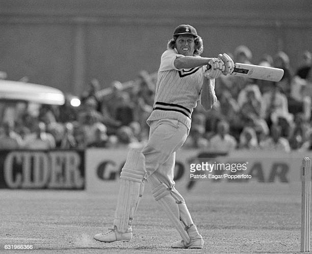 Hampshire captain Barry Richards batting during their match against the Australian touring team at the County Ground in Southampton 30th June 1975...