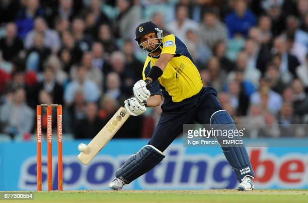 Hampshire Royals' Shadid Afridi bats