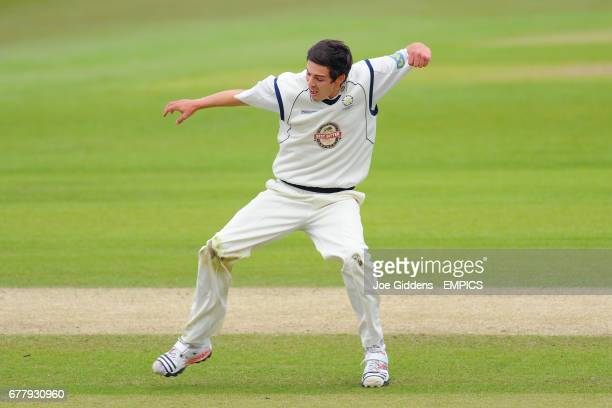 Hampshire's Chris Wood celebrates as Michael Carberry runs out Yorkshire's Andrew Gale
