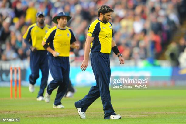 Hampshire's Shahid Afridi stands dejected