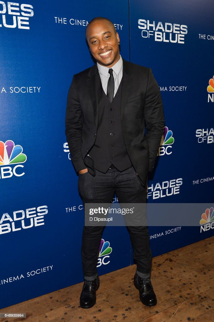 Hampton Fluker attends the season two premiere of 'Shades of Blue', hosted by NBC and The Cinema Society, at The Roxy on March 1, 2017 in New York City.
