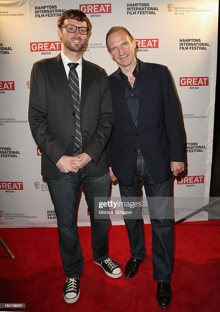 Hamptons International Film Festival Artistic Director <a gi-track='captionPersonalityLinkClicked' href=/galleries/search?phrase=David+Nugent+-+Artistic+Director&family=editorial&specificpeople=15104918 ng-click='$event.stopPropagation()'>David Nugent</a> (L) and actor <a gi-track='captionPersonalityLinkClicked' href=/galleries/search?phrase=Ralph+Fiennes&family=editorial&specificpeople=206461 ng-click='$event.stopPropagation()'>Ralph Fiennes</a> attend the 21st Annual Hamptons International Film Festival on October 11, 2013 in East Hampton, New York.