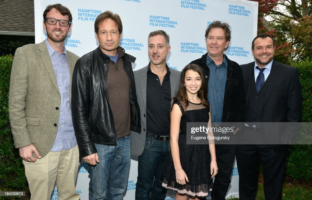 Hamptons International Film Festival Artistic Director <a gi-track='captionPersonalityLinkClicked' href=/galleries/search?phrase=David+Nugent+-+Artistic+Director&family=editorial&specificpeople=15104918 ng-click='$event.stopPropagation()'>David Nugent</a>, <a gi-track='captionPersonalityLinkClicked' href=/galleries/search?phrase=David+Duchovny&family=editorial&specificpeople=201628 ng-click='$event.stopPropagation()'>David Duchovny</a>, director Anthony Fabian, Olivia Steele Falconer, <a gi-track='captionPersonalityLinkClicked' href=/galleries/search?phrase=Timothy+Hutton&family=editorial&specificpeople=743801 ng-click='$event.stopPropagation()'>Timothy Hutton</a>, and Anthony Mastromauro attend the 21st Annual Hamptons International Film Festival on October 11, 2013 in East Hampton, New York.