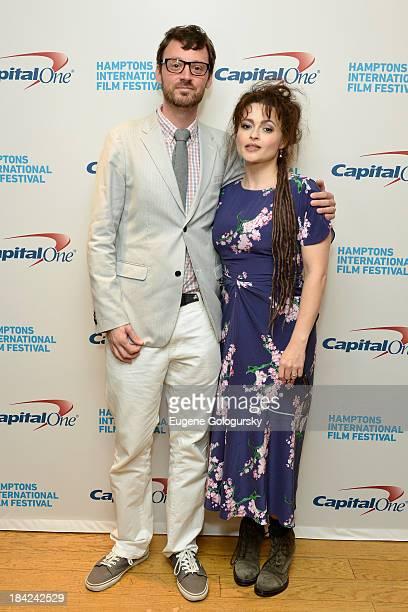 Hamptons International Film Festival Artistic Director David Nugent and actress Helena Bonham Carter attend the 21st Annual Hamptons International...