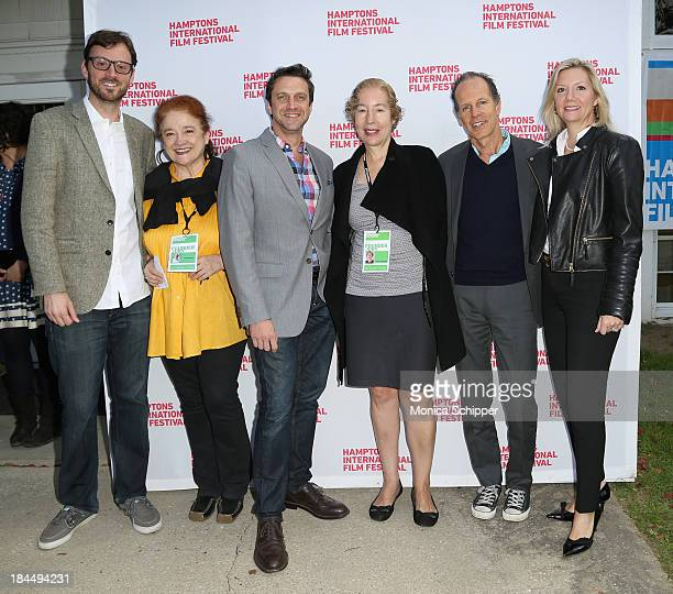 Hamptons International Film Festival Artistic Director David Nugent Karen Durbin Raul Esparza Nancy Gerstman Michael Halsband and Hamptons...