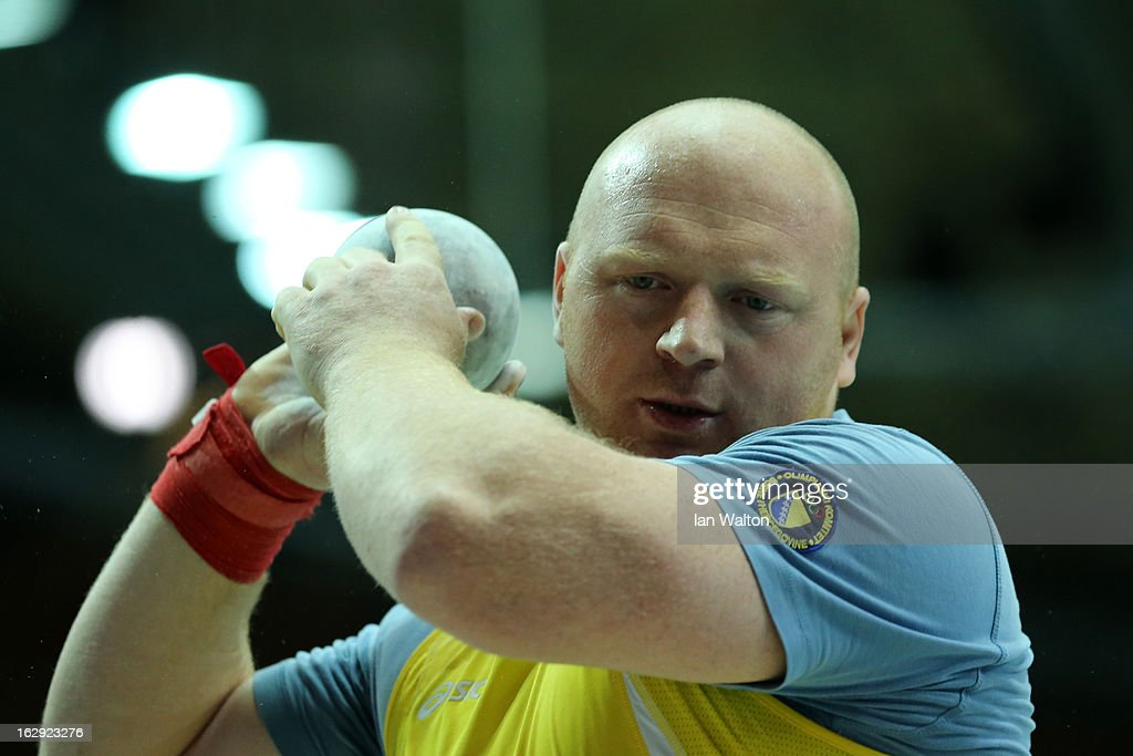 Hamza Alic of Bosnia and Herzegovina competes in the Men's Shot Put Final during day one of the European Athletics Indoor Championships at Scandinavium on March 1, 2013 in Gothenburg, Sweden.
