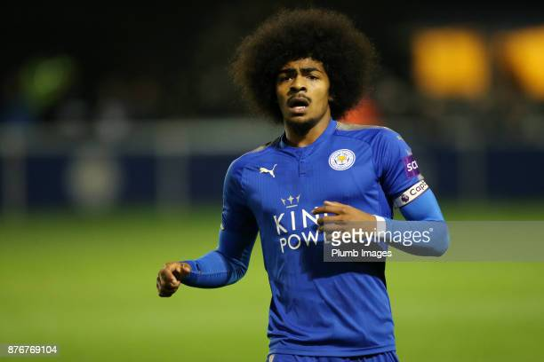 Hamza Choudhury of Leicester City during the Premier League 2 match between Leicester City and Sunderland at Holmes Park on November 20th 2017 in...
