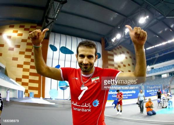Hamzeh Zarini during 17th Asian Men's Volleyball Championship between Iran And Lebanon on October 4 2013 in Dubai United Arab Emirates