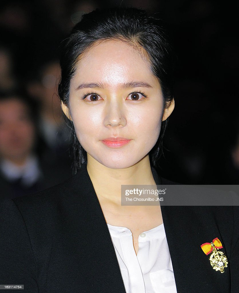 Han Ga-In is awarded the Presidential Citation during the 27th Taxpayer Day at COEX Auditorium on March 4, 2013 in Seoul, South Korea.