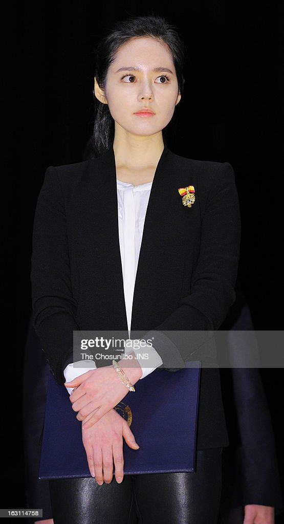 <a gi-track='captionPersonalityLinkClicked' href=/galleries/search?phrase=Han+Ga-In&family=editorial&specificpeople=7406282 ng-click='$event.stopPropagation()'>Han Ga-In</a> is awarded the Presidential Citation during the 27th Taxpayer Day at COEX Auditorium on March 4, 2013 in Seoul, South Korea.