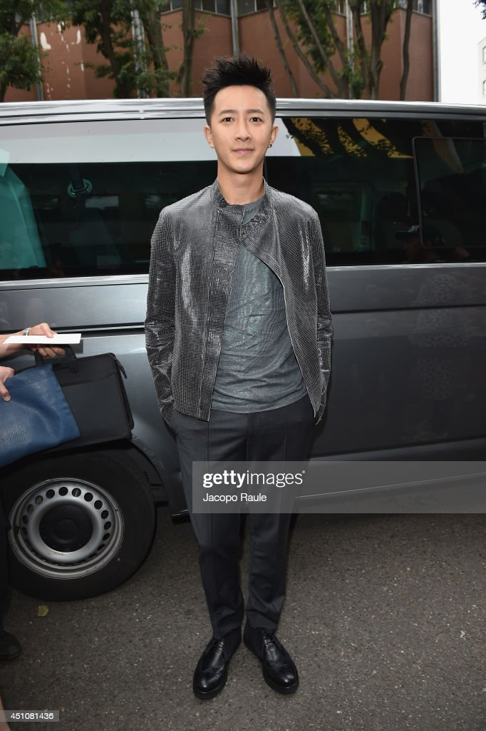 Han Geng attends the Emporio Armani show during Milan Menswear Fashion Week Spring Summer 2015 on June 23, 2014 in Milan, Italy.