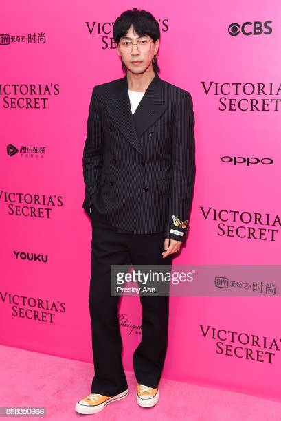 Han Huo Huo attends 2017 Victoria's Secret Fashion Show In Shanghai Pink Carpet Arrivals at MercedesBenz Arena on November 20 2017 in Shanghai China