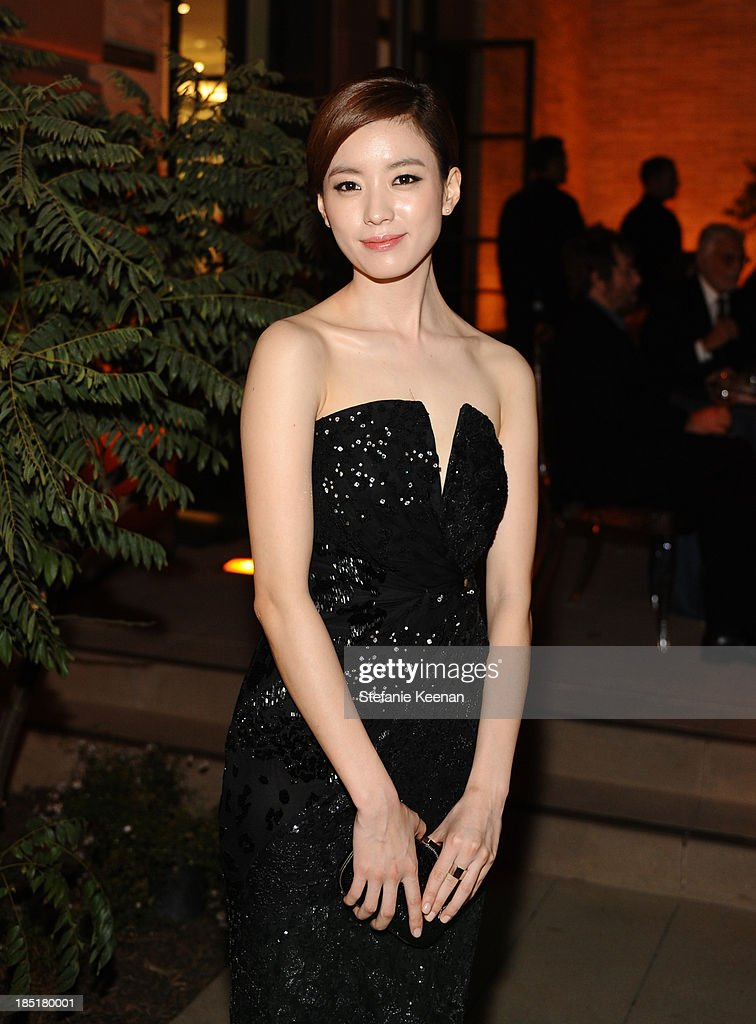Han Hyo-Joo arrives at the Wallis Annenberg Center for the Performing Arts Inaugural Gala presented by Salvatore Ferragamo at the Wallis Annenberg Center for the Performing Arts on October 17, 2013 in Beverly Hills, California.