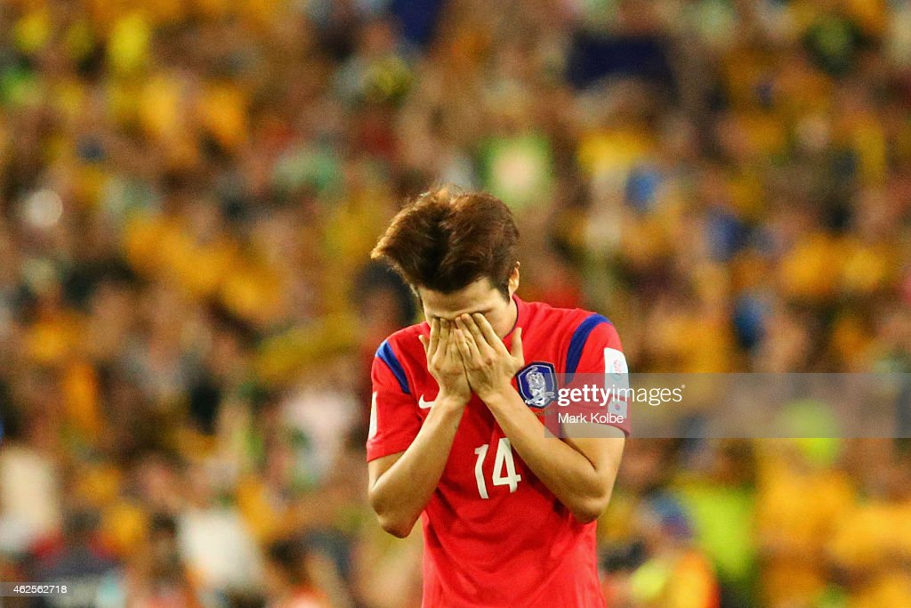 Han Kook Young of Korea Republic looks dejected after defeat during the 2015 Asian Cup final match between Korea Republic and the Australian Socceroos at ANZ Stadium on January 31, 2015 in Sydney, Australia.